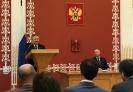 У кафедры ректор Политеха, Председатель Совета по грантам Президента РФ А.И. Рудской